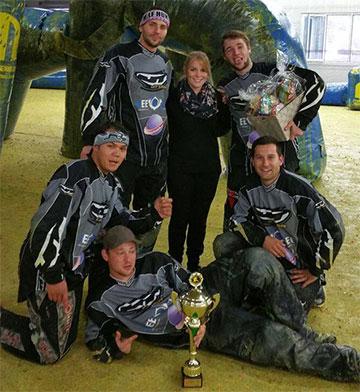 GeeZee-Team beim Firmencup in der Paintballarena Kraichgau